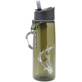 LifeStraw Go Water Filter Bottle 700ml, olive